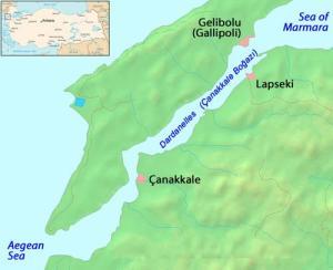 Orasul Lapseki (anticul Lampsakos) din provincia Canakkale, Turcia - orasul binecuvantat de Sfantul Partenie cu minunile sale